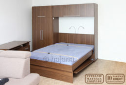 Sklápěcí postel Hajana 4-02 dveře FIX sestava otevřená