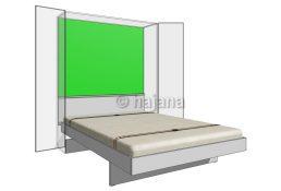 Zadní stěna skříně v kombinaci s čelem - dvojlůžko